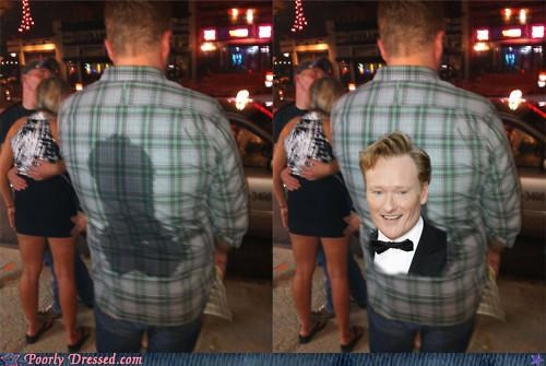 conan obrien,sweat,wet