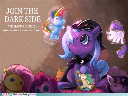 art,join the dark side,nightmare moon,plushies,princess luna,the herd