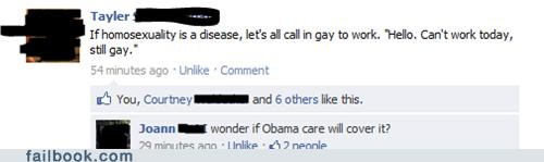 calling out,homosexuality,obama,sick