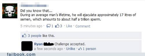 Challenge Accepted ejaculation facts semen