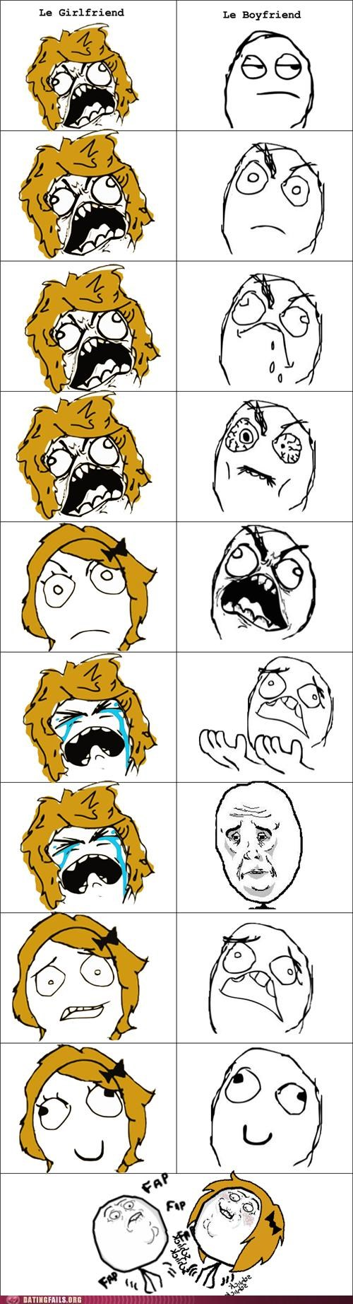 arguing argument comic rage comic spat We Are Dating - 5117362176