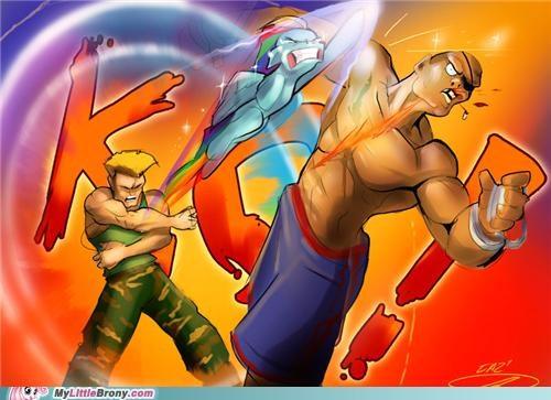 20 Percent Cooler Guile rainbow dash sonic rainboom Street fighter - 5117369088