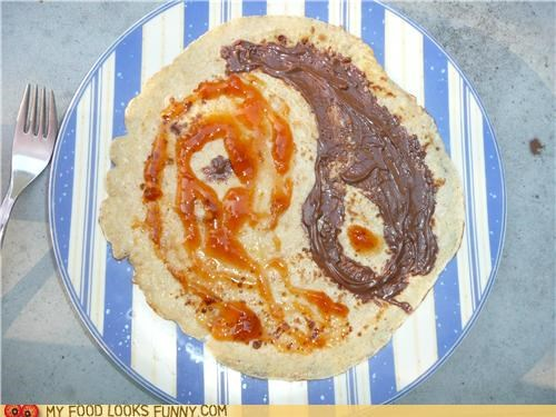 beans,chocolate,gross,jam,pancake,salsa,tortilla
