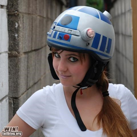 biking helmet modification nerdgasm r2-d2 safety star wars - 5117520640