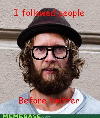 hipster,hipster-disney-friends,people,stalker,twitter