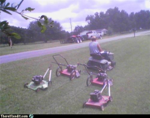 dual use lawnmower overkill wtf - 5117560832