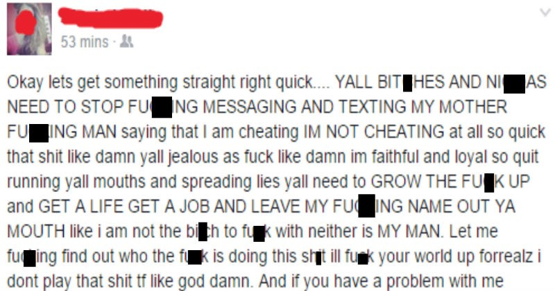 cheating woman gets called out