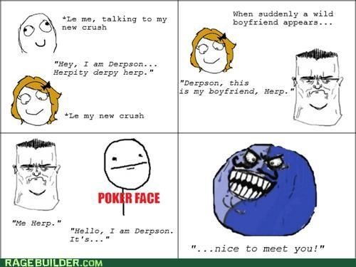 boyfriend,crush,i lied,poker face,Rage Comics