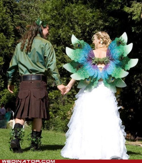 bride funny wedding photos groom Hall of Fame wedding dress wings - 5117817088