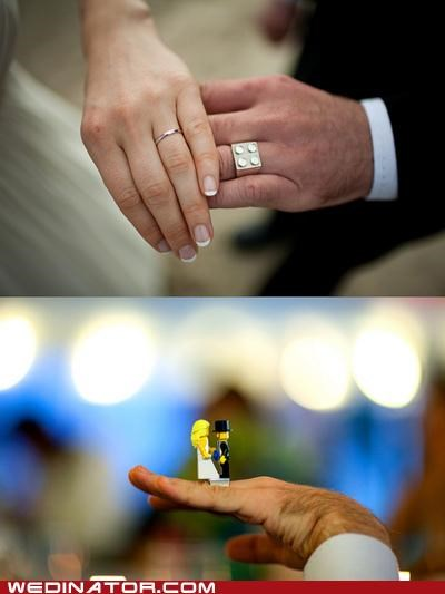 funny wedding photos,legos,rings