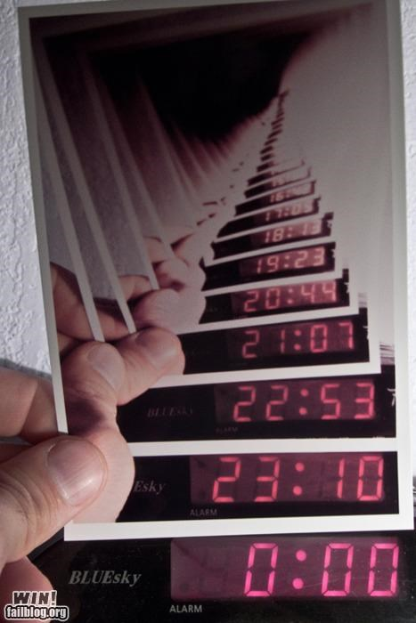 clock,Inception,photography,polaroid,recursion