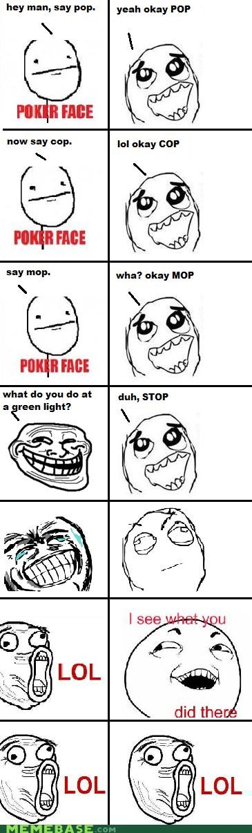 cop go mop pop Rage Comics sounds like stop