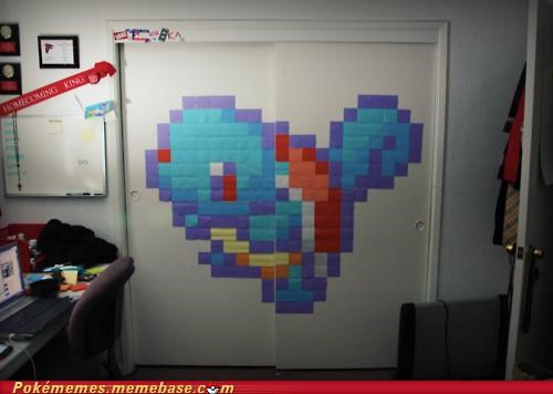 decorate,design,IRL,post it,squirtle,sticky notes