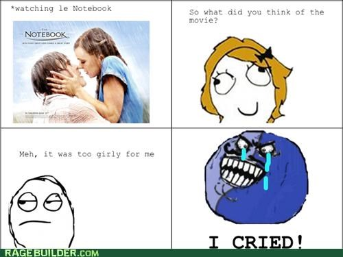 girly movie,i lied,Movie,Rage Comics,the notebook