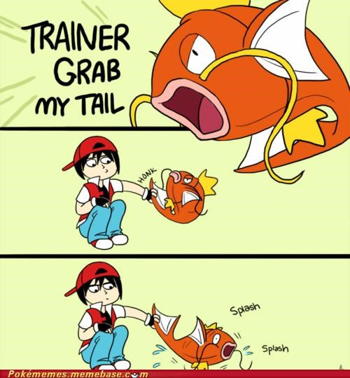comic disappoint grab my tail splash trainer