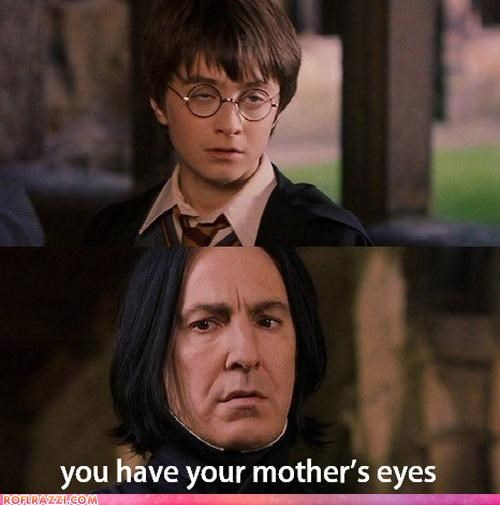Alan Rickman,comic,Daniel Radcliffe,derp,funny,Harry Potter,Movie,sci fi