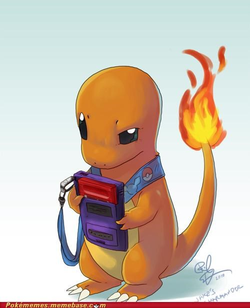 art,charmander,gameboy,gameplay,play