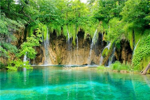 blue water,Croatia,lake,plitvice,plitvice lakes,Plitvice Lakes National Park,waterfall,waterfalls