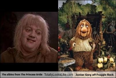 The albino from The Princess Bride Totally Looks Like Junion Gorg off Fraggle Rock