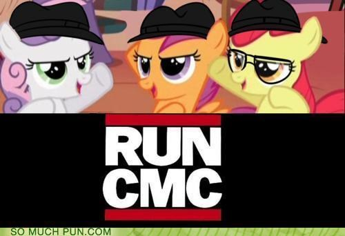 acronym,cmc,cutie mark crusaders,literalism,my little pony,Run DMC,similar sounding
