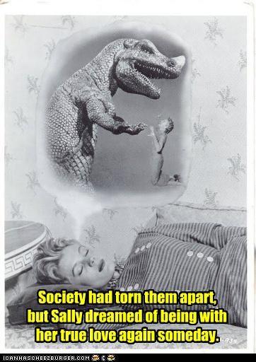 dinosaur dream funny lady Photo wtf - 5119514368