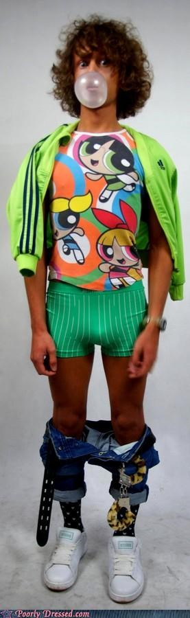 boxers,bubblegum,pantsless,powerpuff girls