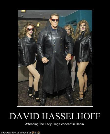 DAVID HASSELHOFF Attending the Lady Gaga concert in Berlin.