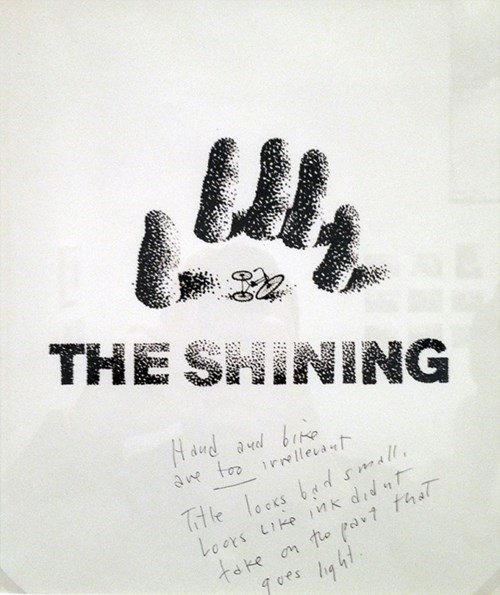 kubrick rejected the shining movie posters