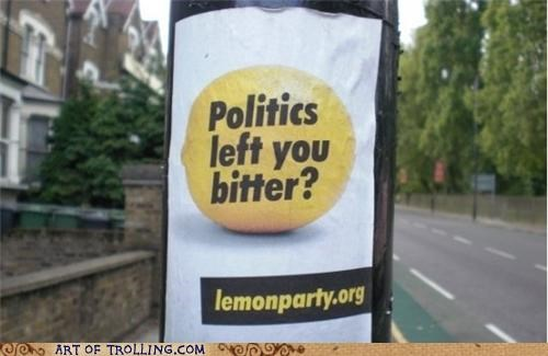 IRL lemon party politics shock sites