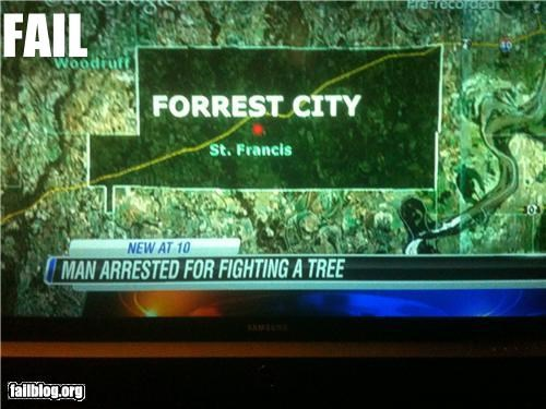 Chyron,failboat,Probably bad News,tree hugger,trees,wtf