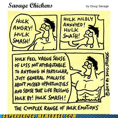 Awesome Art emotions hulk Savage Chickens - 5120398848