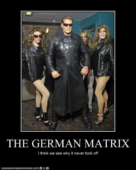 actor,celeb,david hasselhoff,demotivational,funny,the matrix,wtf