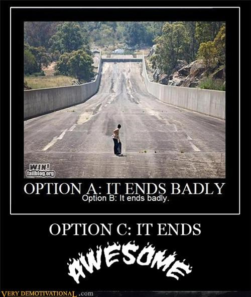 extreme sports life options Pure Awesome skateboard stunt tunnel