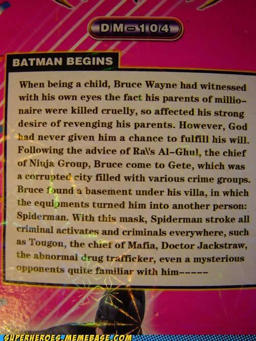 batman description Random Heroics Spider-Man wtf - 5120980224