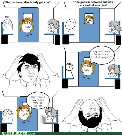 drunk Jackie Chan Rage Comics toilet paper wtf - 5120994560