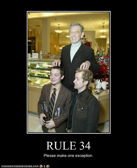 actor,celeb,demotivational,dominic monaghan,elijah wood,funny,ian mckellen