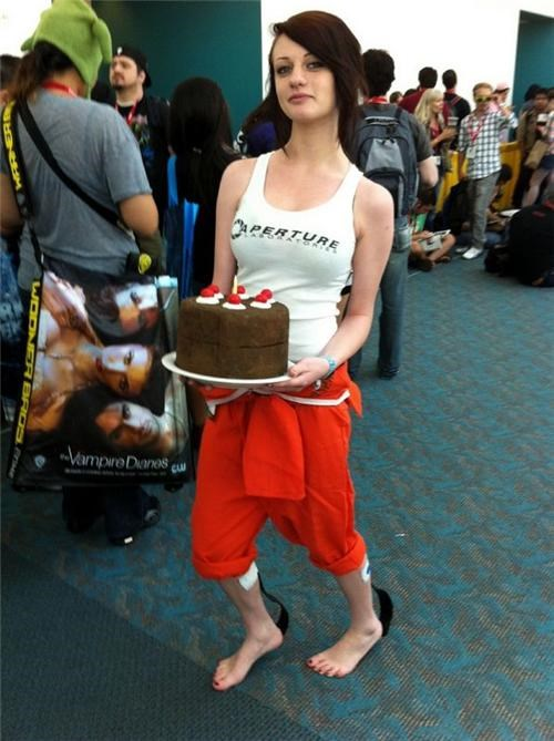 chell comic con cosplay cosplay corner Portal SDCC video games - 5121069568