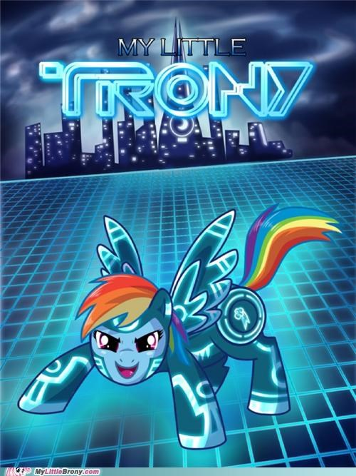 crossover Movie rainbow dash tron - 5121105408