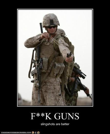 F**K GUNS slingshots are better