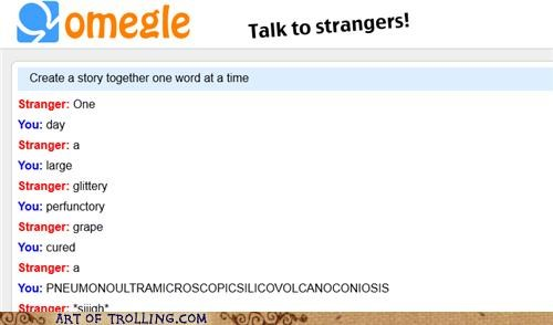 longest word,Omegle,real condition,spymode,story