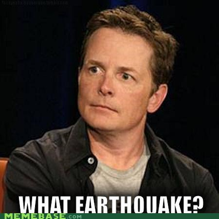 earthquake Memes michael j fox new york parkinsons - 5121379840
