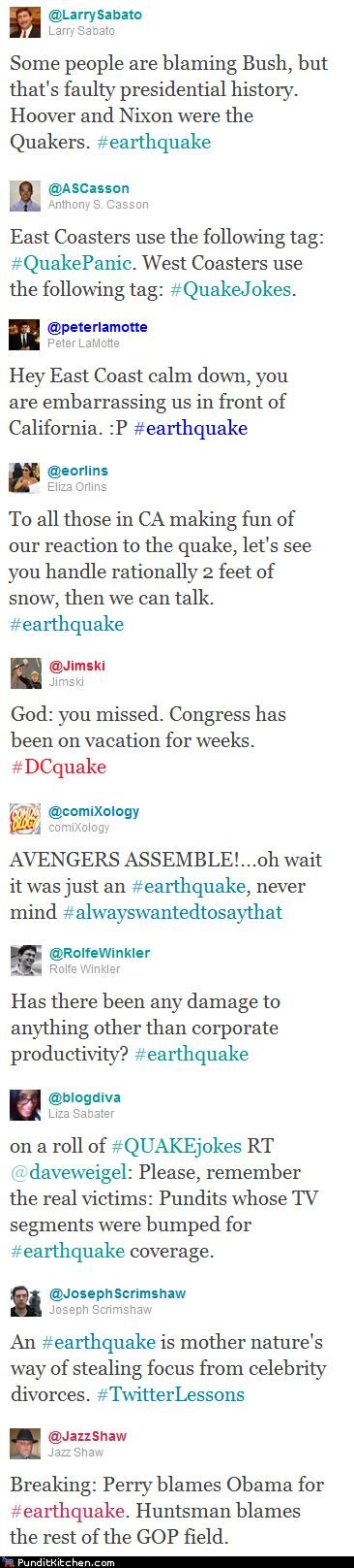 earthquake,east coast,new york city,political pictures,twitter,twitterpated,virginia,washington dc