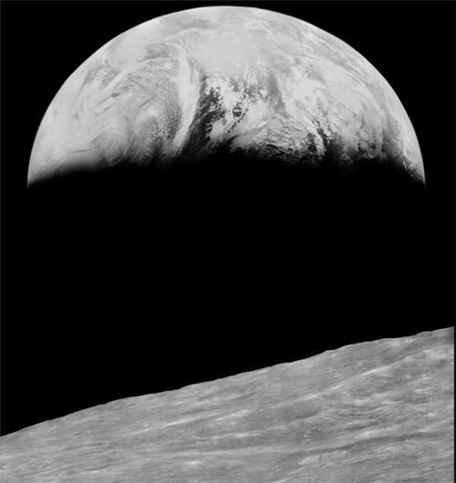 earth earth from the moon Lunar Orbiter 1 moon nasa photos space - 5121450496