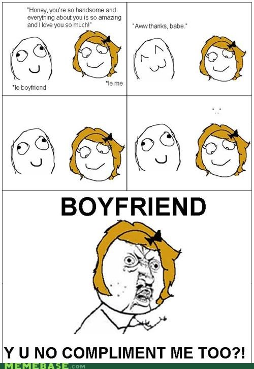 compliments,Rage Comics,relationships,y u no gal