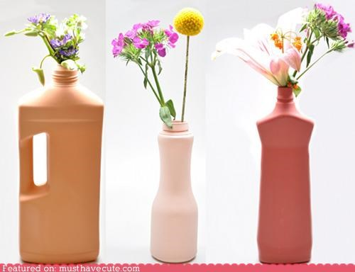 bottles,cleaning,plastic,porcelain,vases