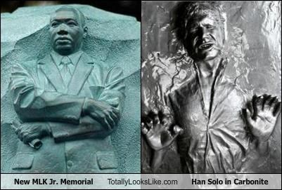 actors,carbonite,Han Solo,Harrison Ford,martin luther king jr,MLK memorial,star wars,statue,visionary