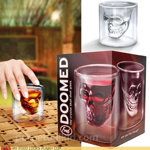 best of the week booze glassware shot glasses skull spooky - 5121520384