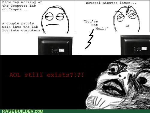 AOL computers Rage Comics youve-got-mail - 5121627136
