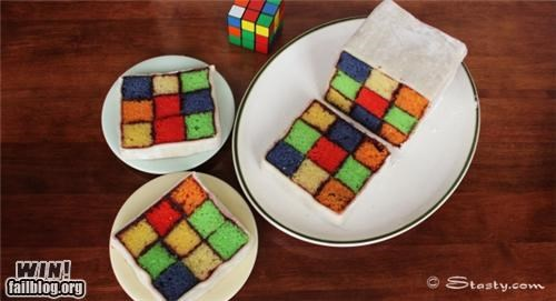 baking,cake,food,nerdgasm,rubiks cube