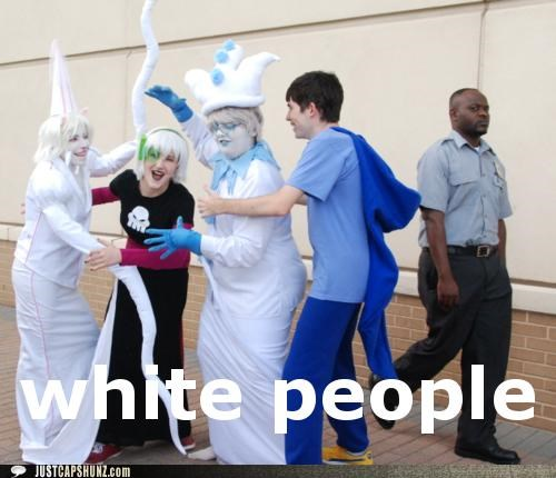 geeks nerds not amused oh lord race white people